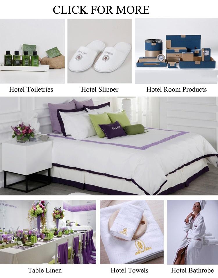 Customized 300TC Sateen White Luxury 4 Star Hotel Linen Duvet Cover