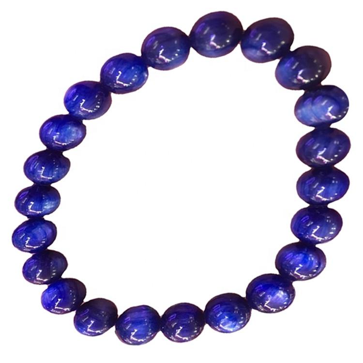 Natural blue kyanite beads bracelets / Gemstone Unisex Bracelets/Customizable